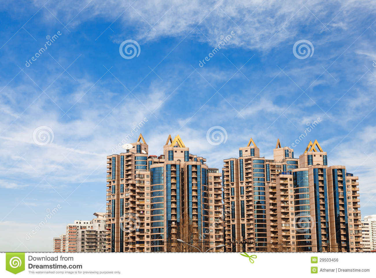 Modern residential building royalty free stock photo for Contemporary residential buildings