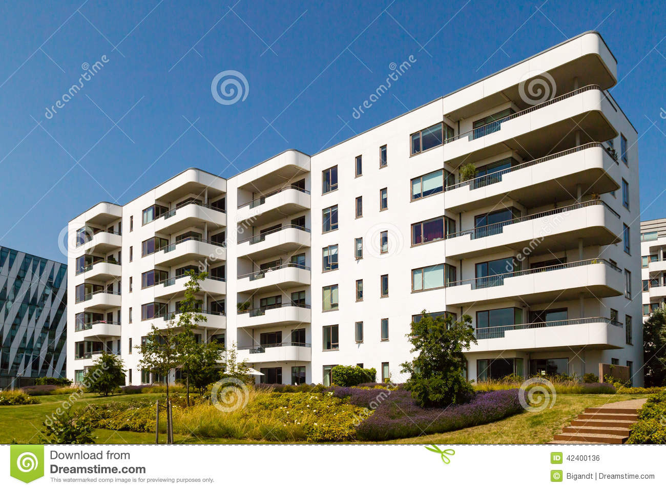 Modern residential building stock photo image 42400136 for Contemporary residential buildings