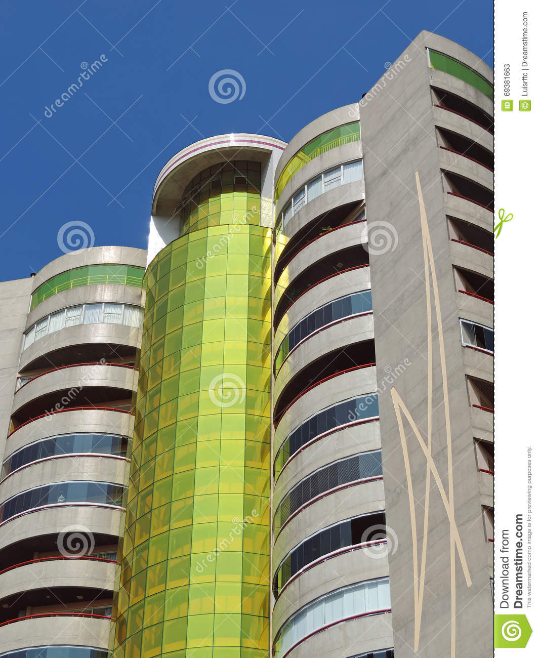 Modern residential building stock photo cartoondealer for Contemporary residential buildings