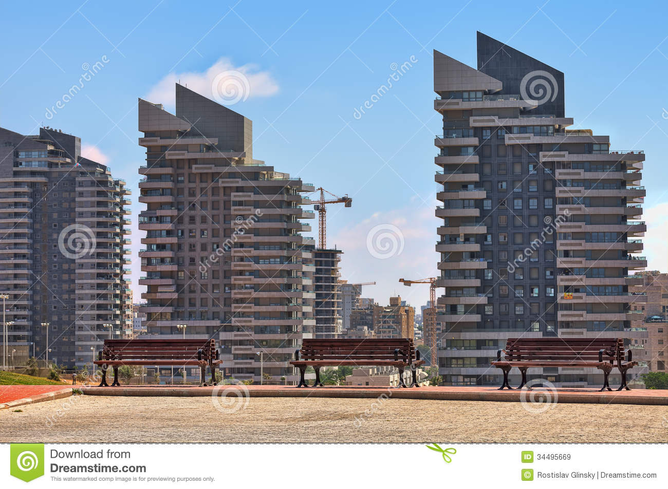 Modern residential buildings in ashdod israel royalty Modern residential towers