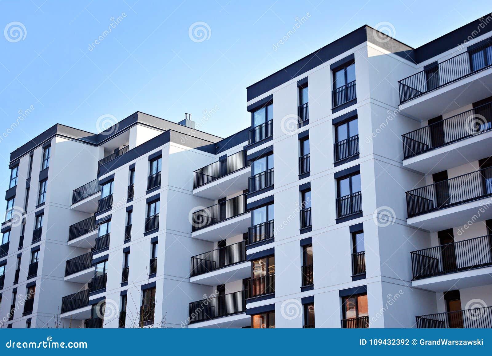 Facade Of A Modern Apartment Building Stock Photo - Image ...