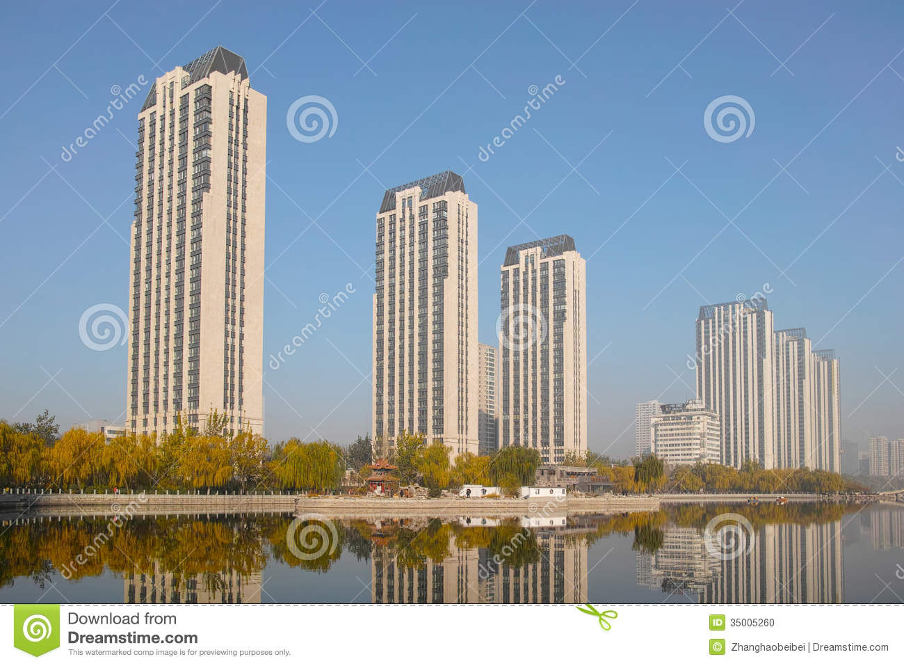 Modern residential buildings stock photo image 35005260 for Contemporary residential buildings