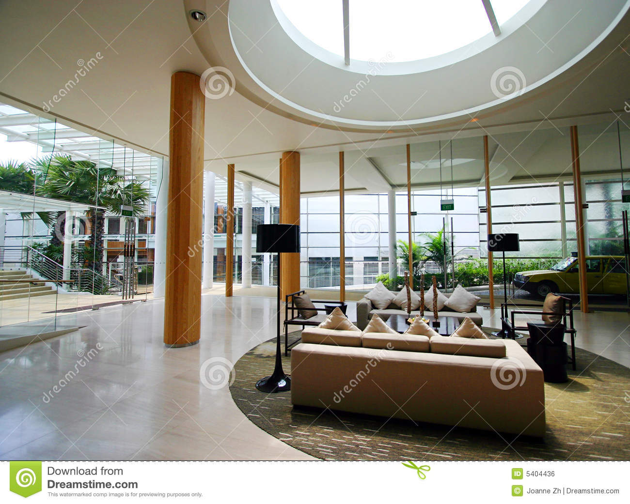 Modern Resort Interior Royalty Free Stock Image Image 5404436