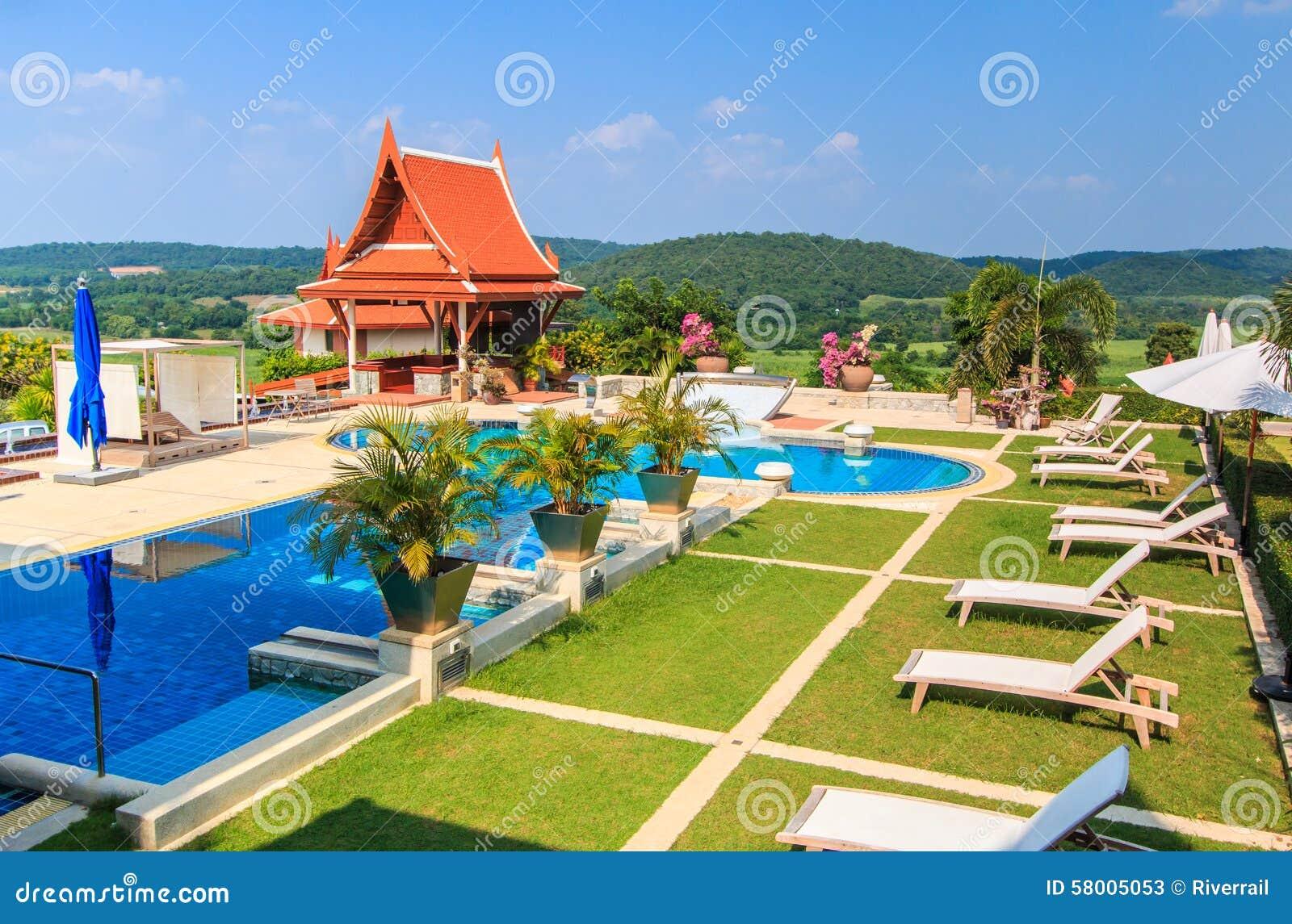 Modern resort stock photo image 58005053 - Business plan piscina ...