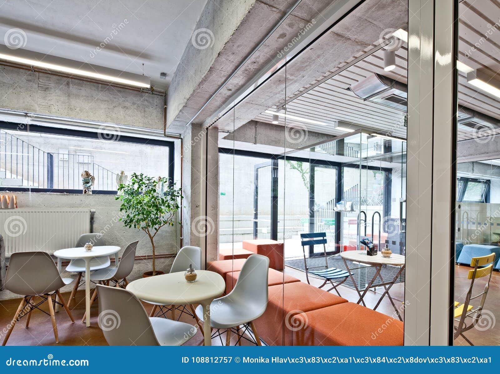 Modern Restaurant Bar Or Cafe Interior Stock Image Image Of Interior Modern 108812757