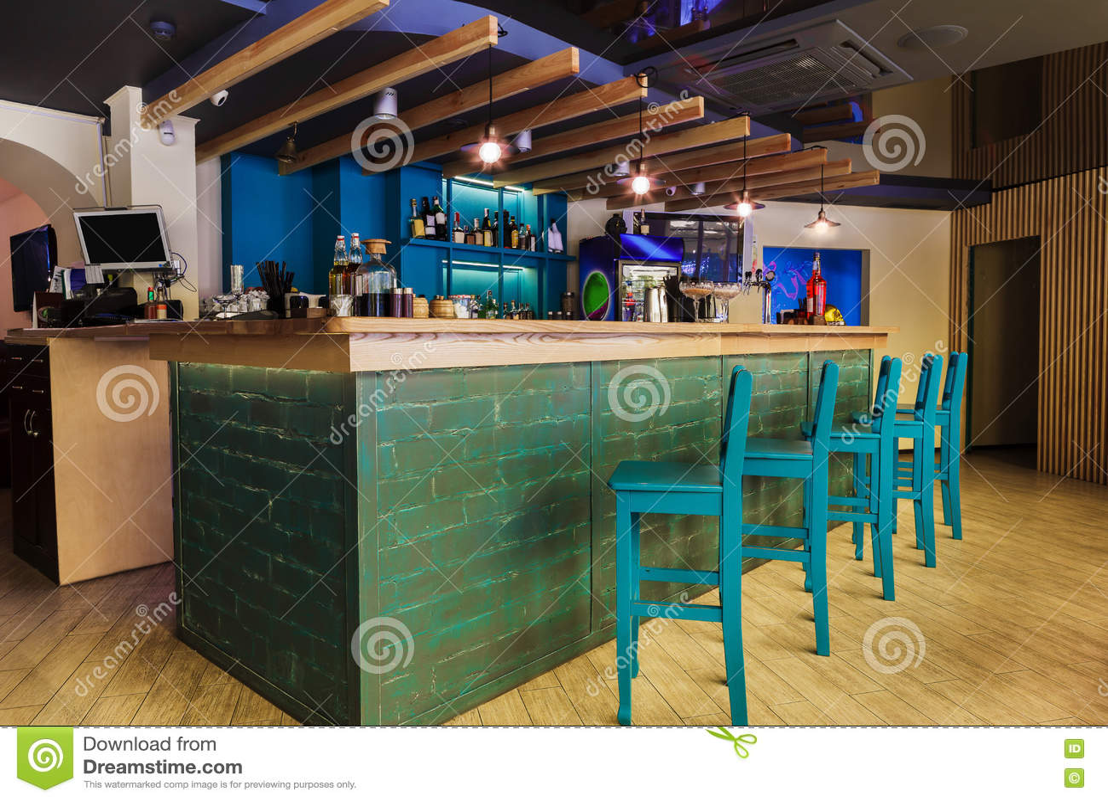 Modern Restaurant Bar Or Cafe Interior Stock Photo Image Of Furniture Inside 78542328