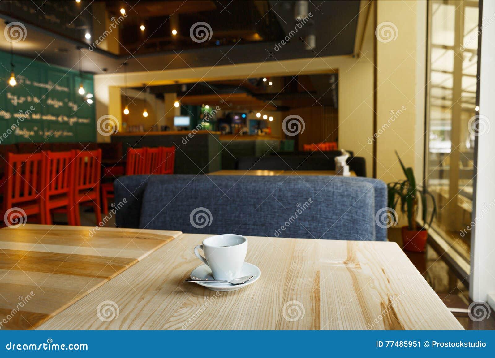 Modern Restaurant Bar Or Cafe Interior Stock Image Image Of Morning Modern 77485951