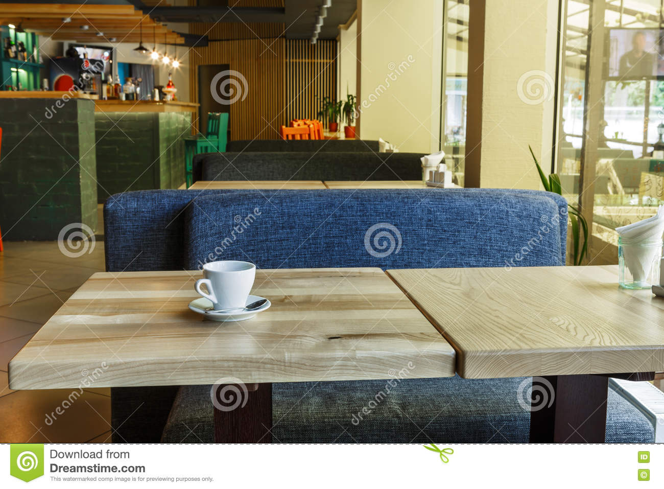 Modern Restaurant Bar Or Cafe Interior Stock Photo Image Of Party Furniture 78002650