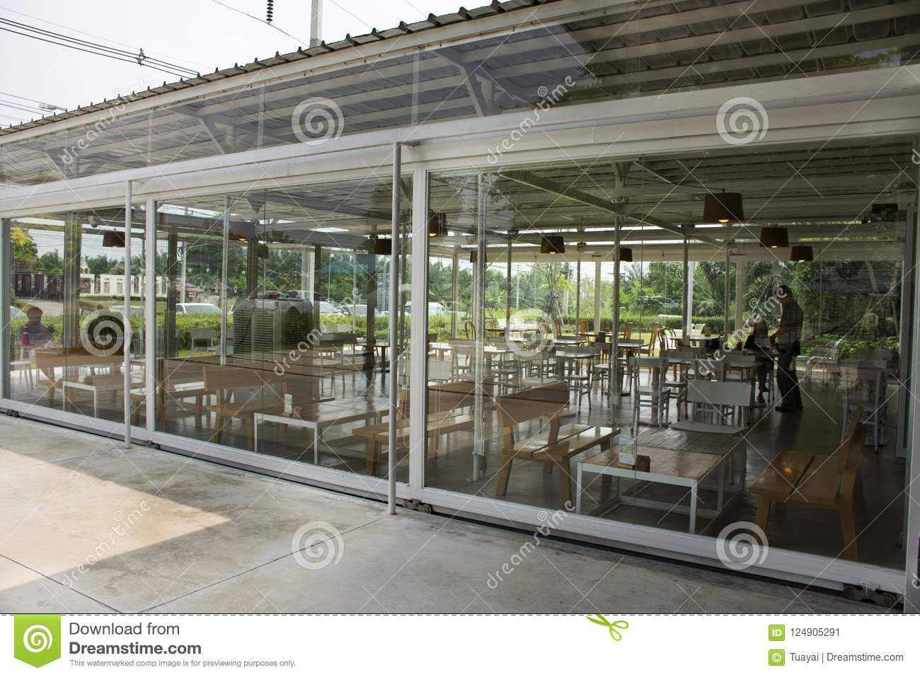 Modern Restaurant And Cafe In Thailand Editorial Photo Image Of Frame Drink 124905291