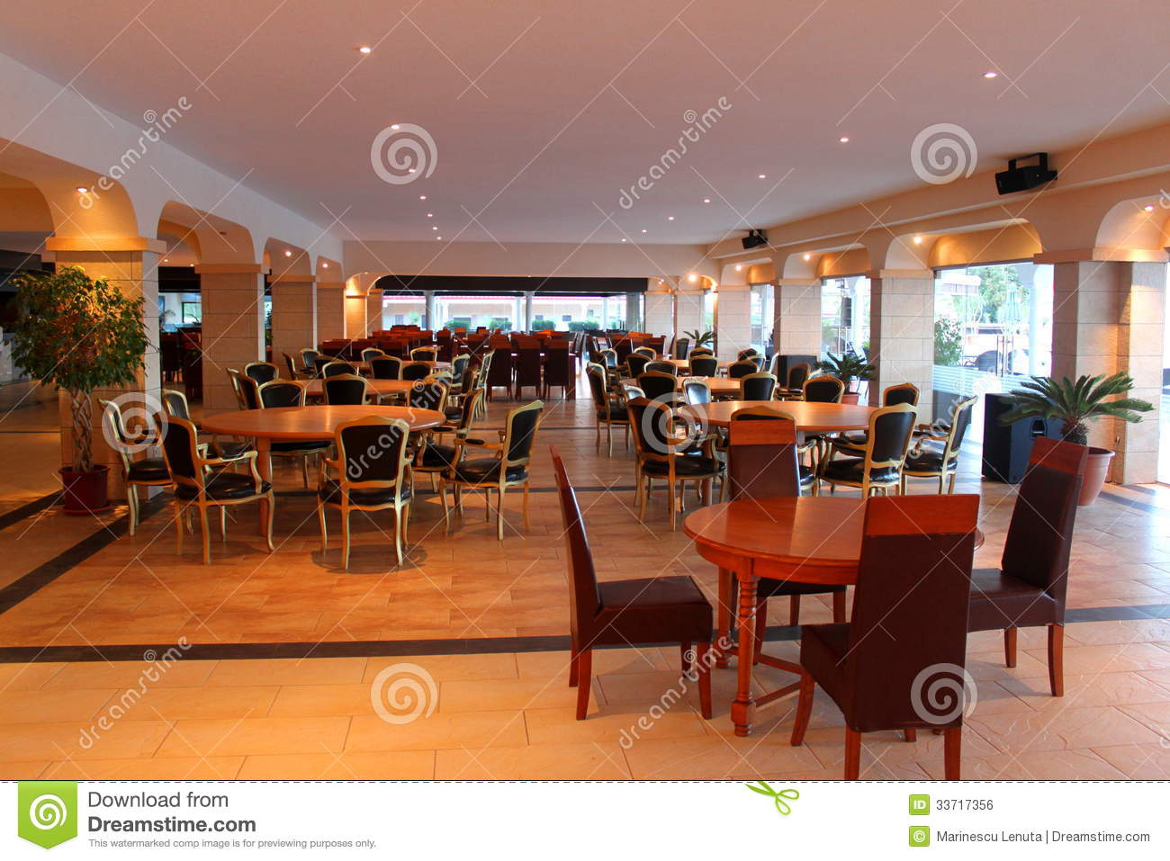Modern restaurant furniture - Modern Restaurant Furniture Royalty Free Stock Image