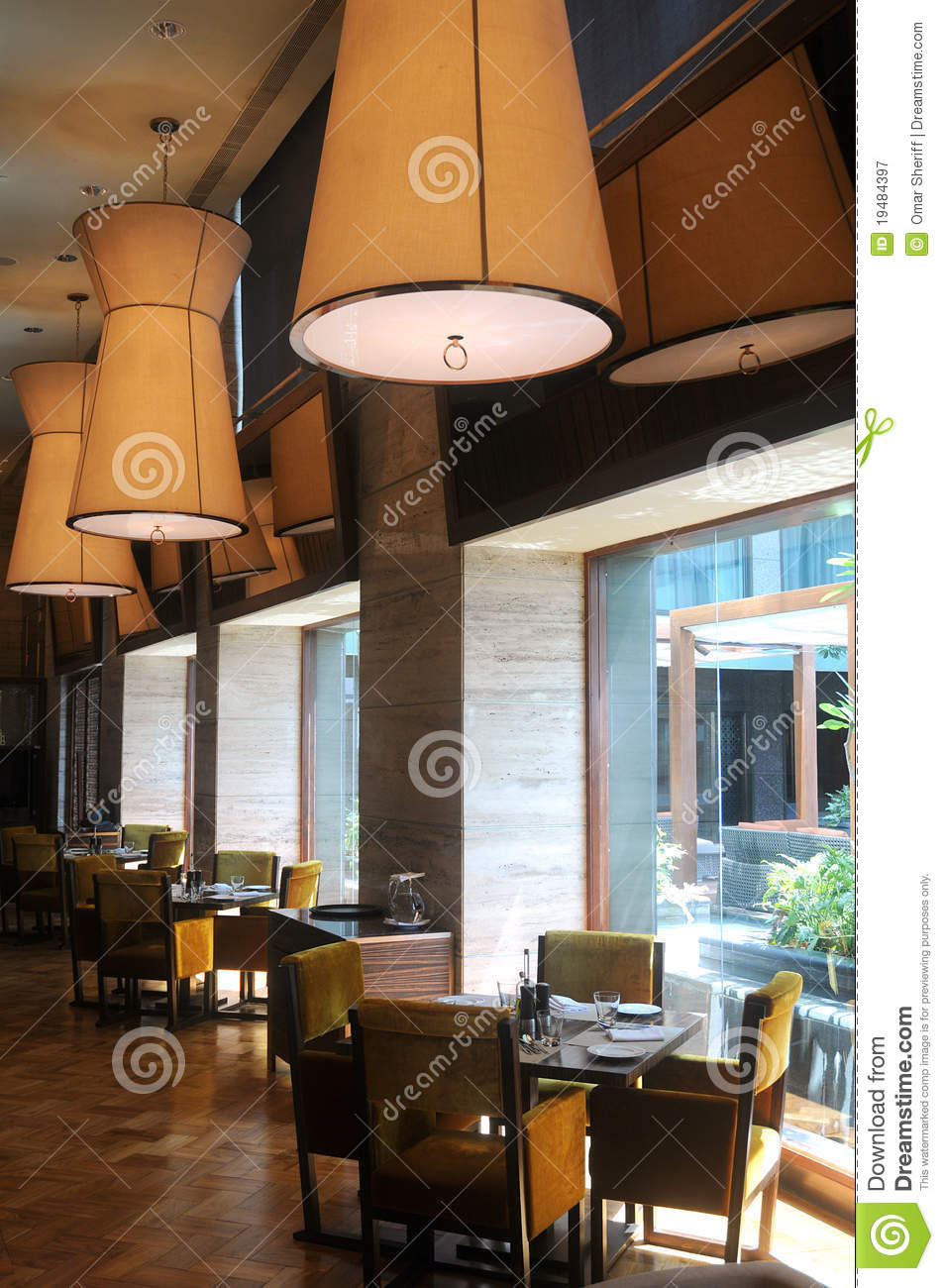 Modern restaurant interior royalty free stock photography