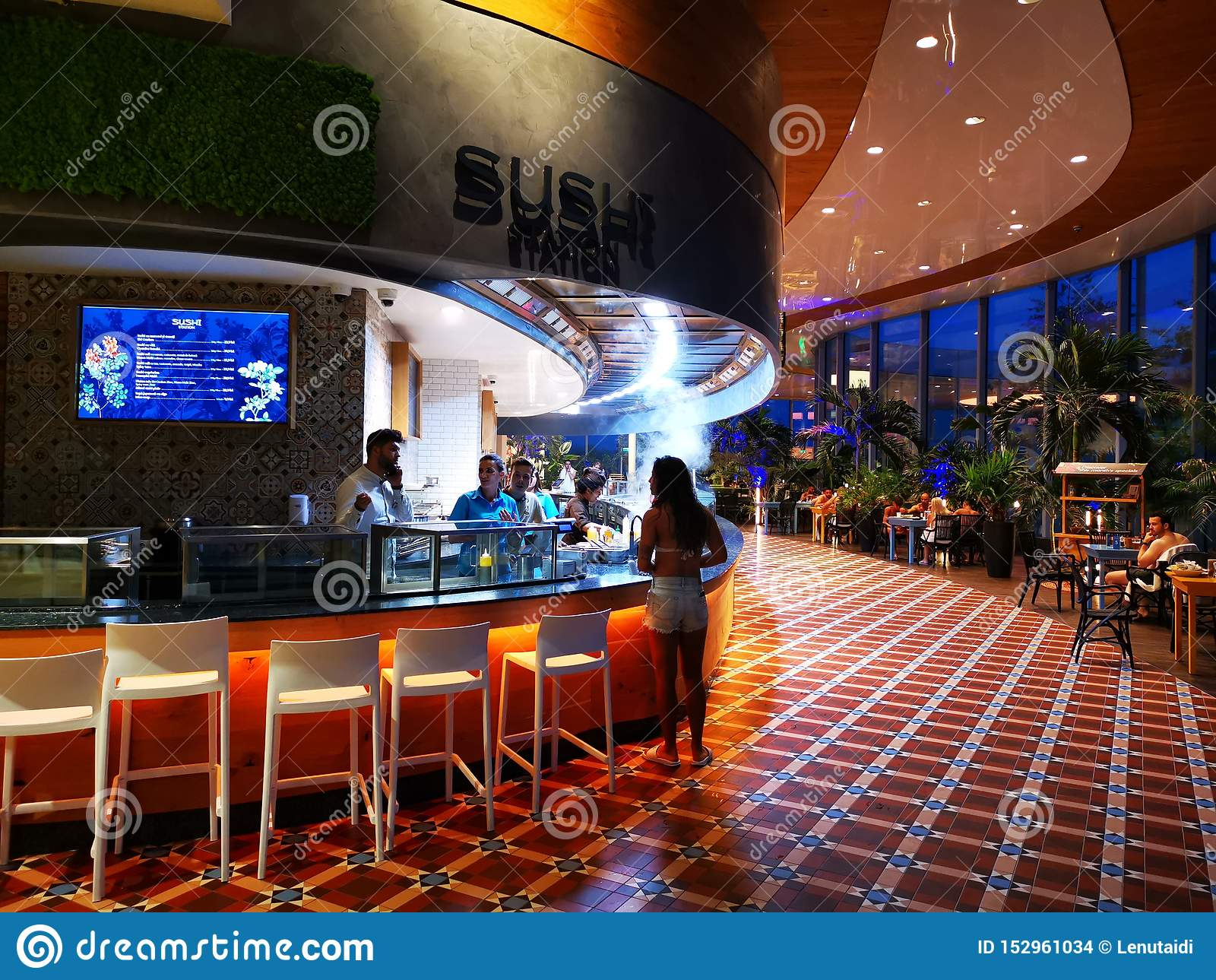 Modern Restaurant Sushi Station At Therme Bucharest Romania Editorial Stock Image Image Of Food Chair 152961034 View the menu, current specials & order food online now. https www dreamstime com modern restaurant sushi station therme bucharest romania palm trees modern furniture modern restaurant sushi station image152961034