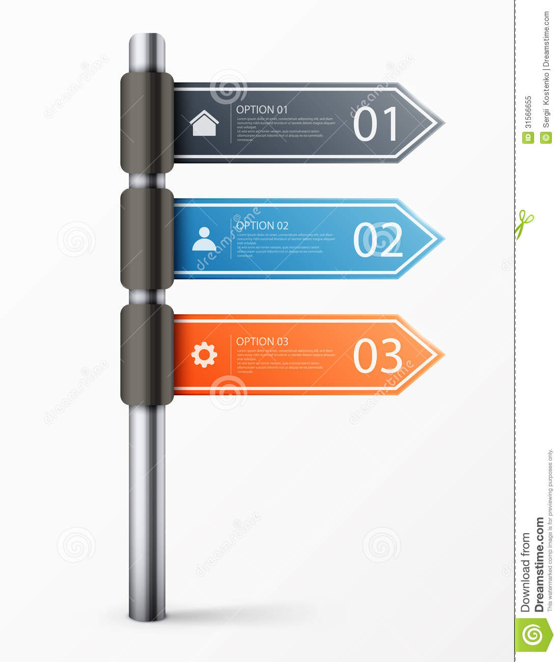 Modern road sign design template for infographics