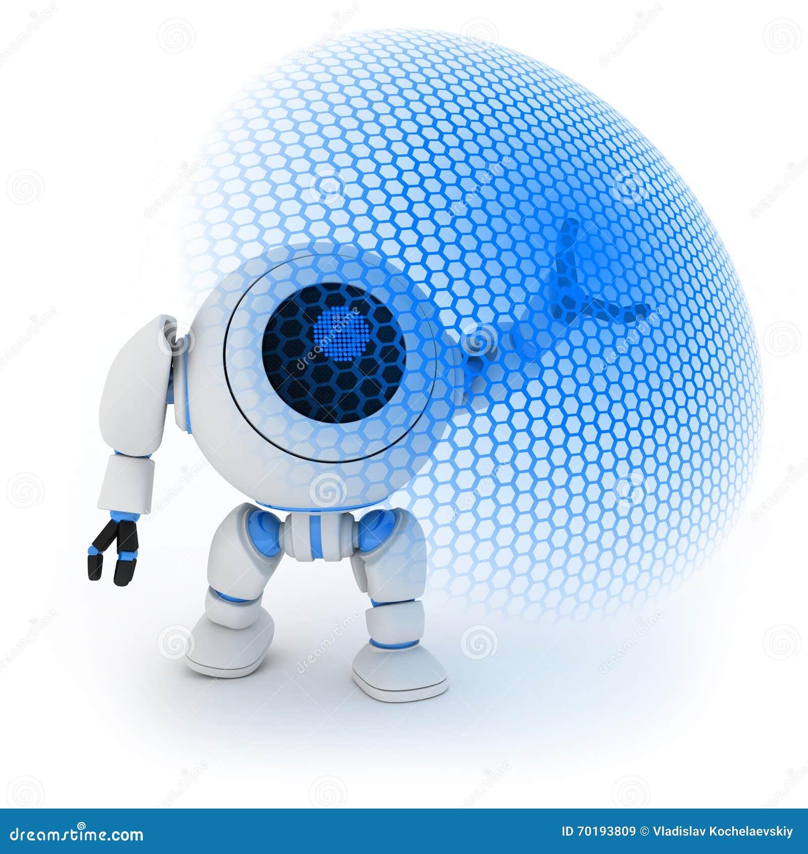 Modern robot och energisköld