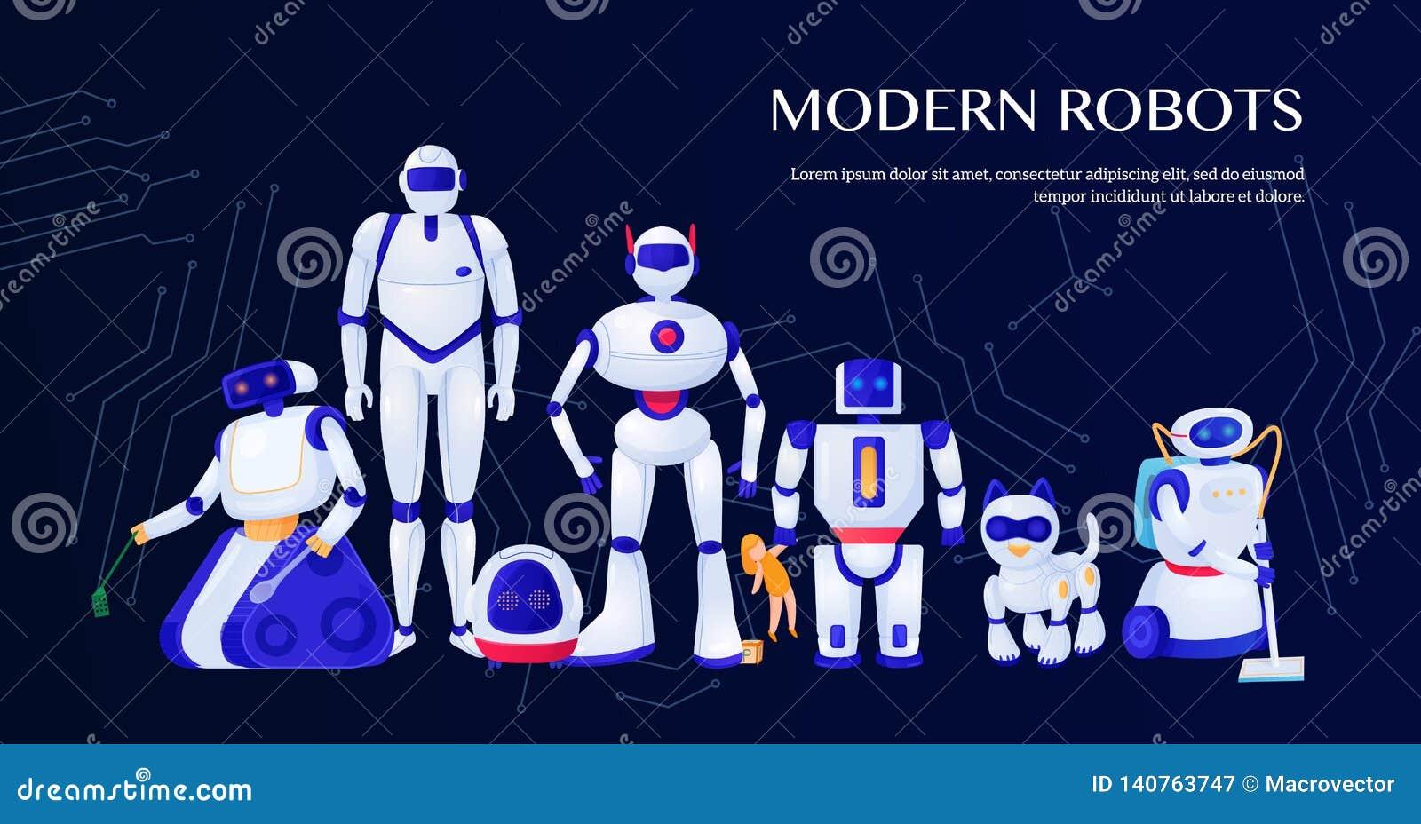 Modern robotillustration
