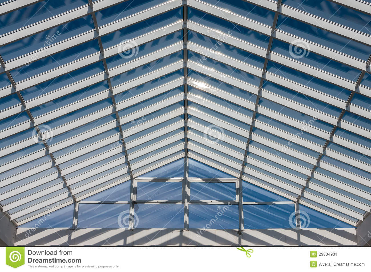 Modern Roof Steel Glass Structure Stock Image Image Of