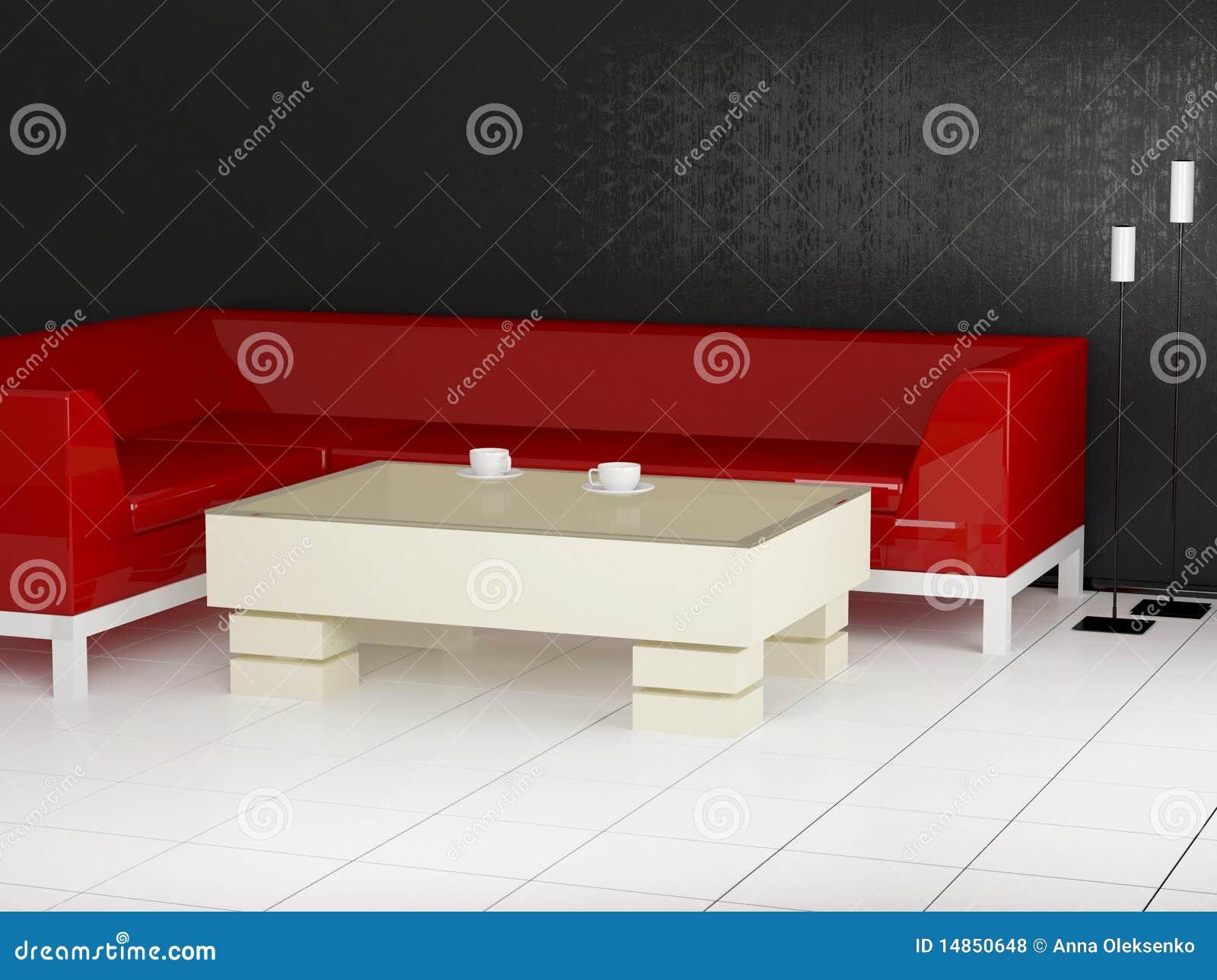 Modern room for coffee break, 3d