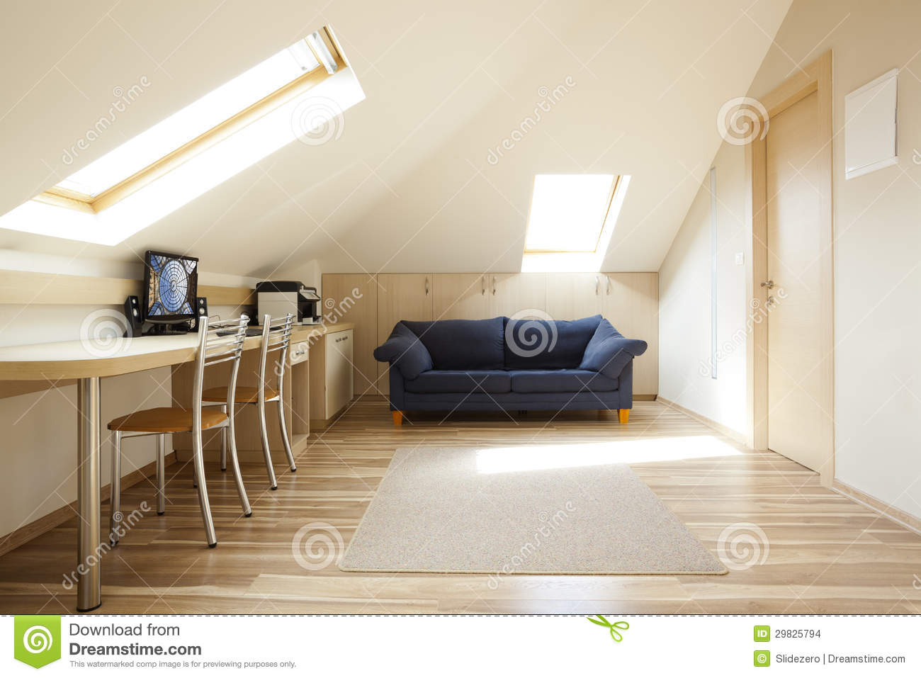 Mansard Room Stock Images Image 29825794