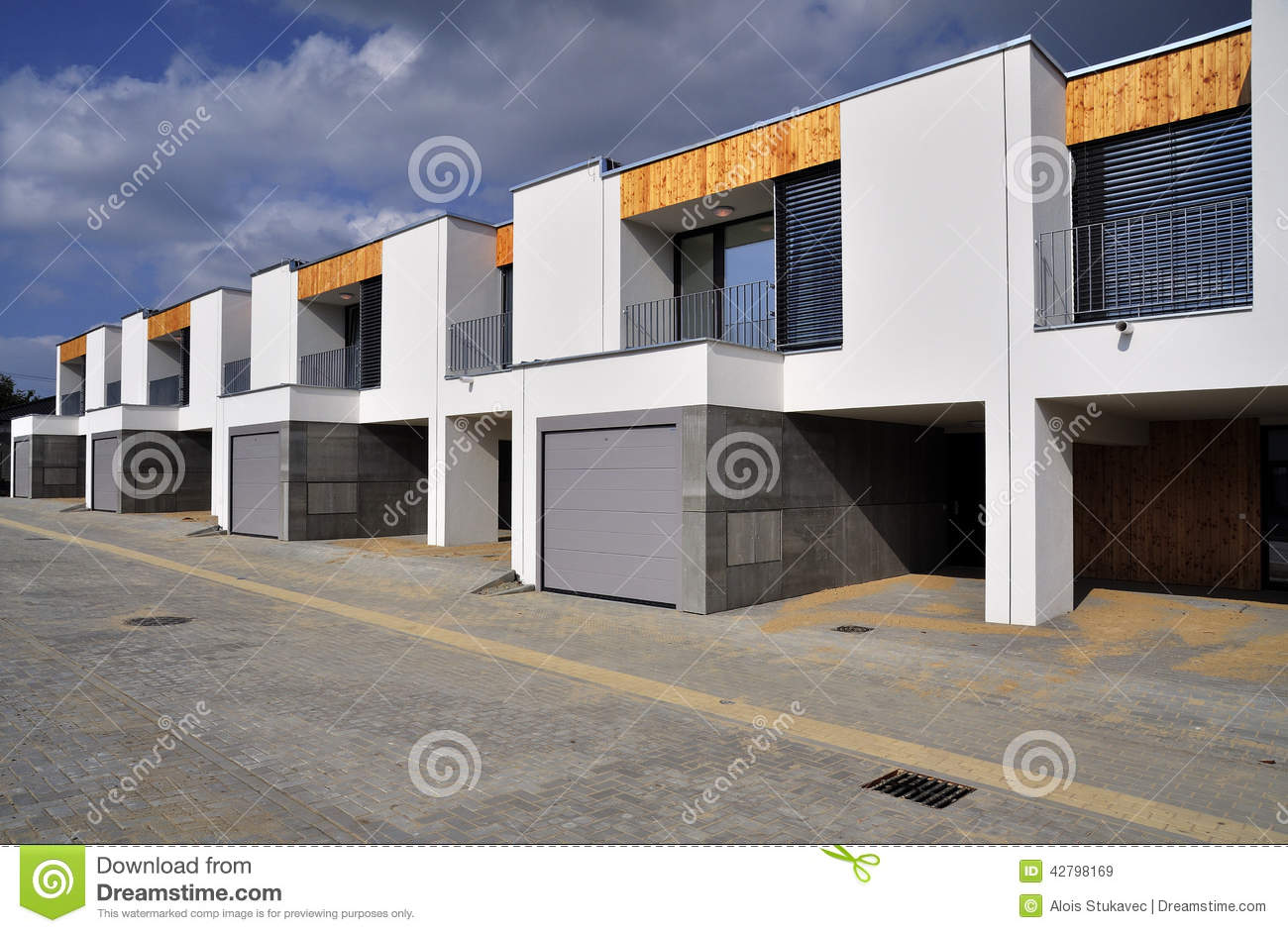 Modern Row Family Houses Stock Image Image Of Houses
