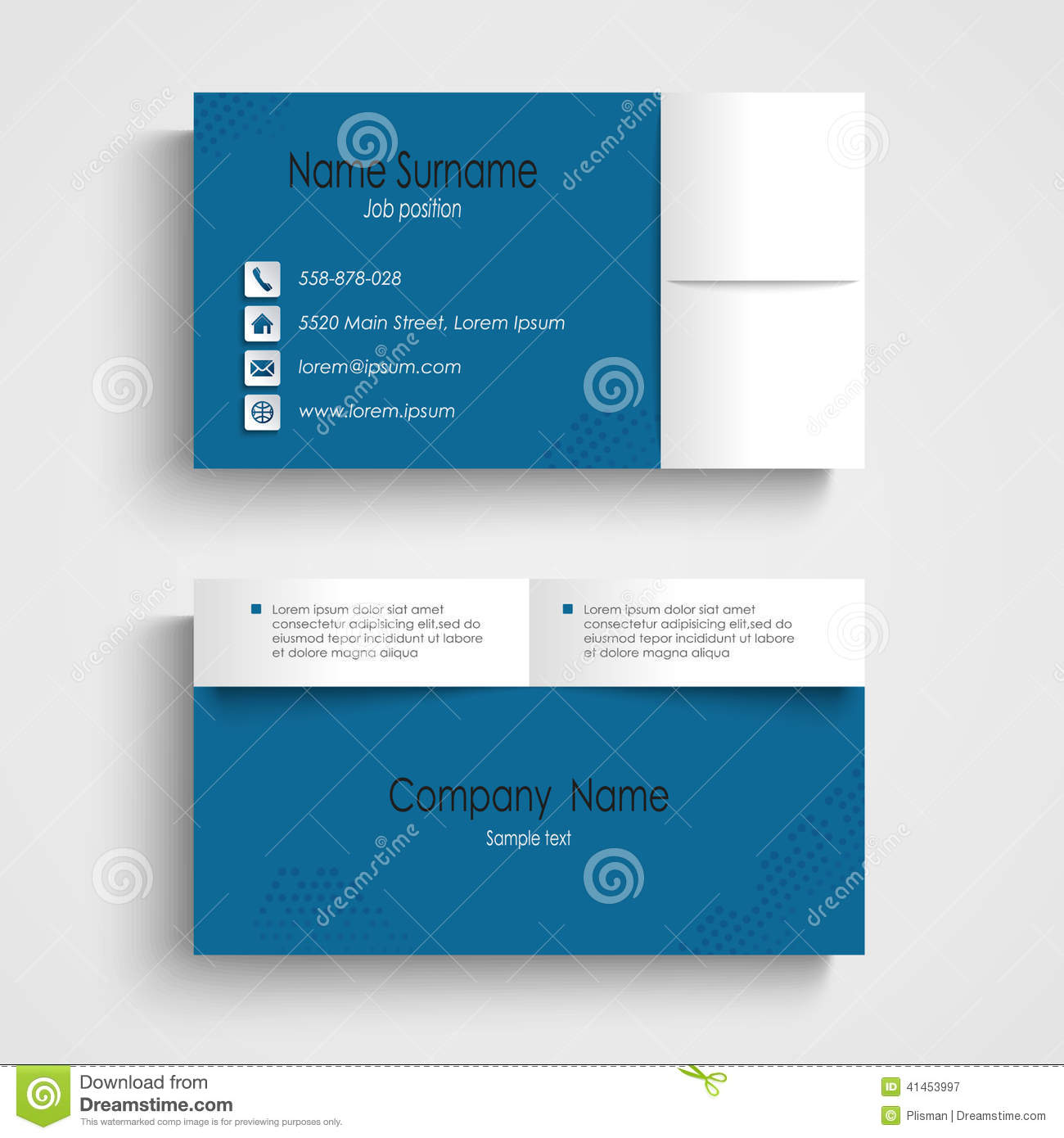 Modern sample blue business card template stock vector modern sample blue business card template flashek Images