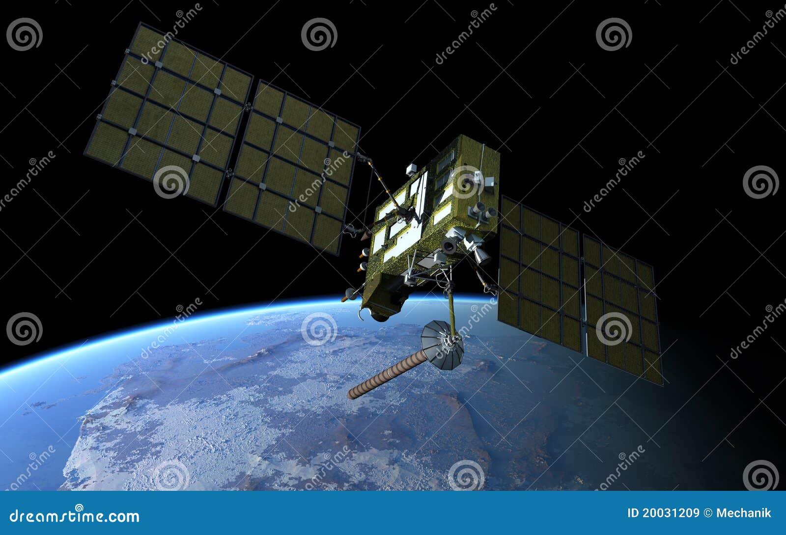 Modern satellit för gps