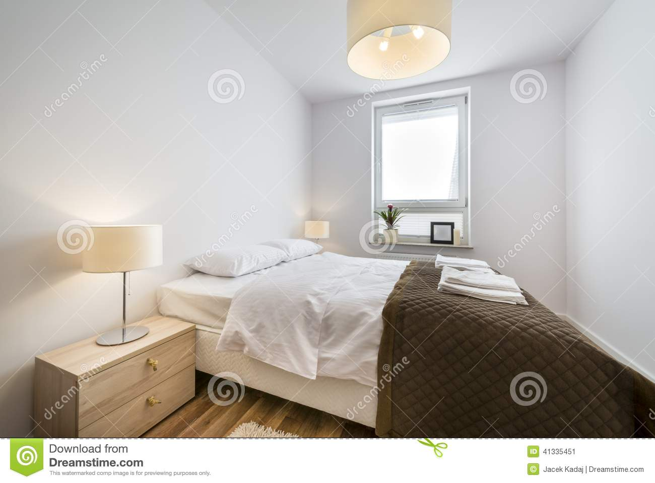 Modern scandinavian interior design bedroom stock photo Scandinavian interior design bedroom