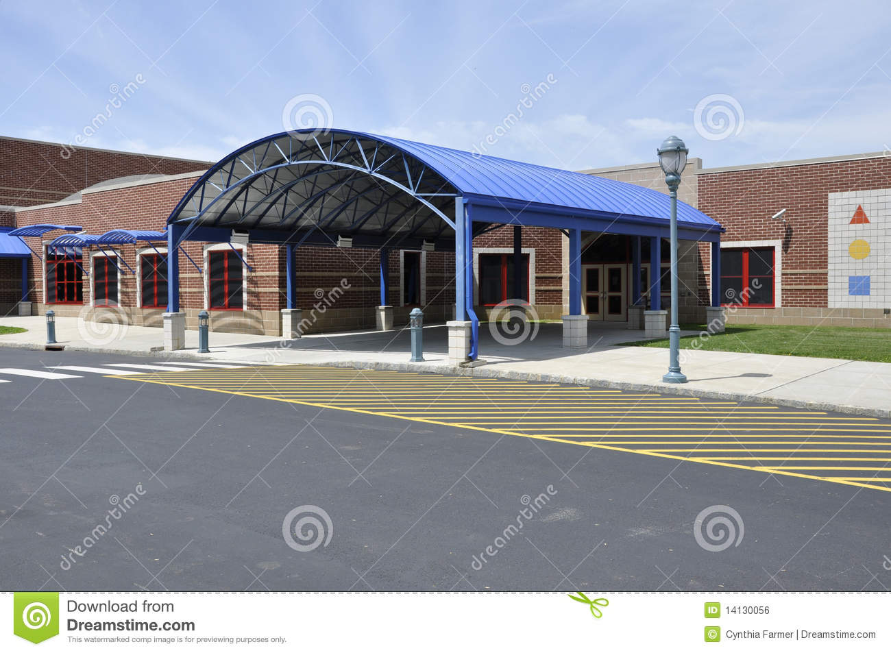 modern school entrance royalty free stock image