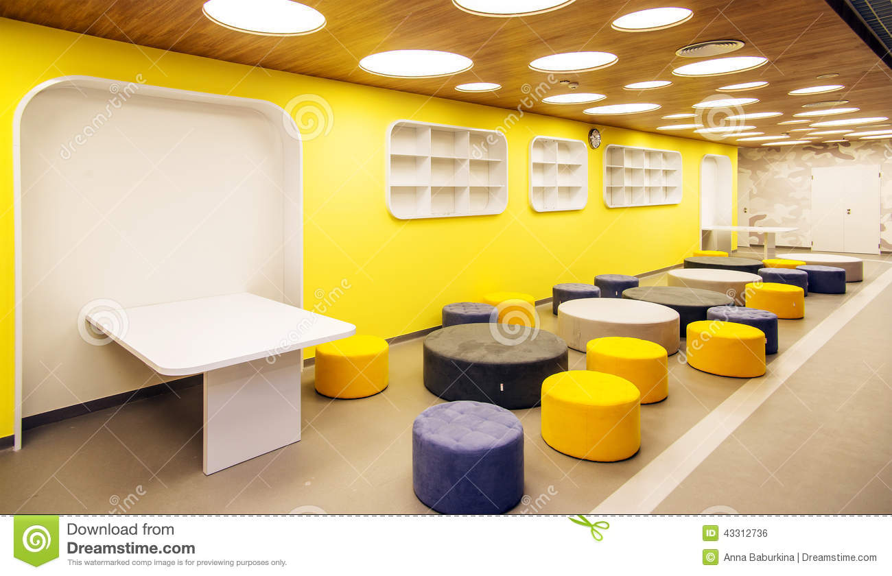 Modern Classroom Interior : Modern school interior stock photo image of decoration