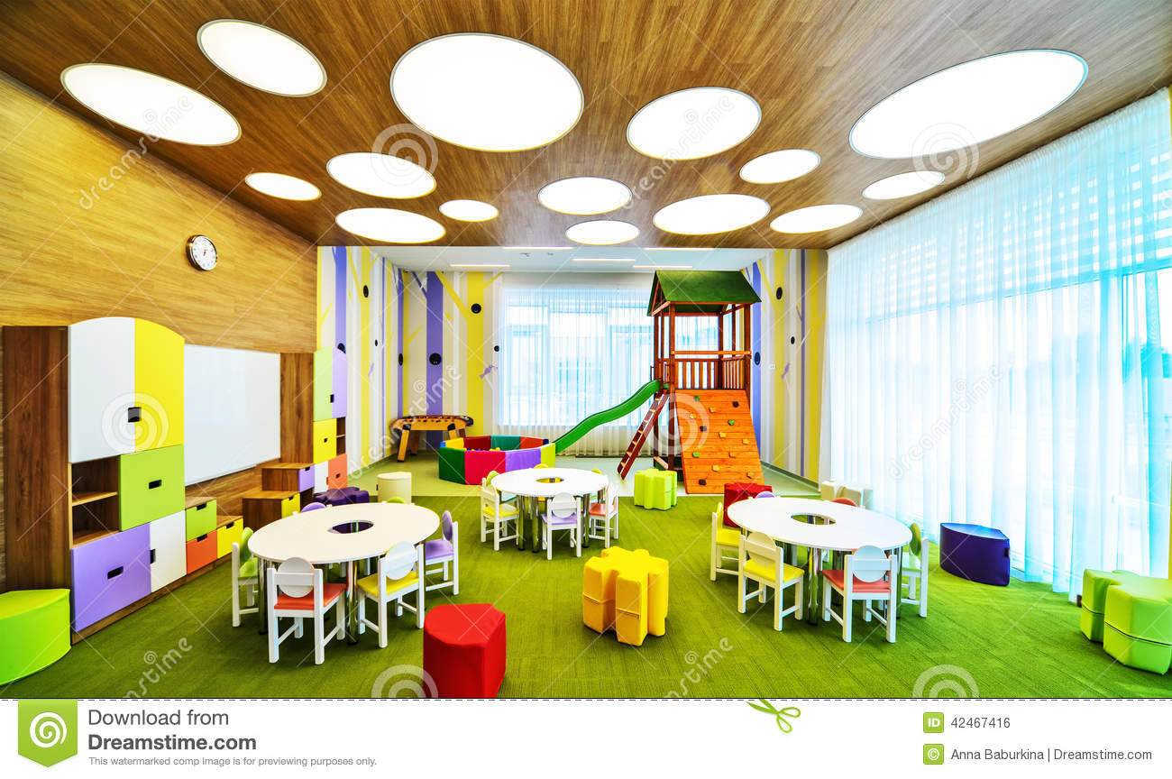 Modern Classroom Clipart : Modern school interior stock photo image