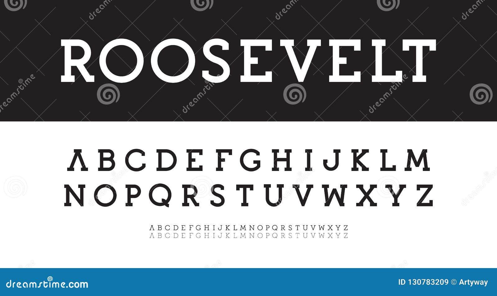 Modern serif alfabet Gewaagde, regelmatige, dunne gezette vector Nieuw klassiek doopvontmalplaatje Geometrische eenvoudige karakt