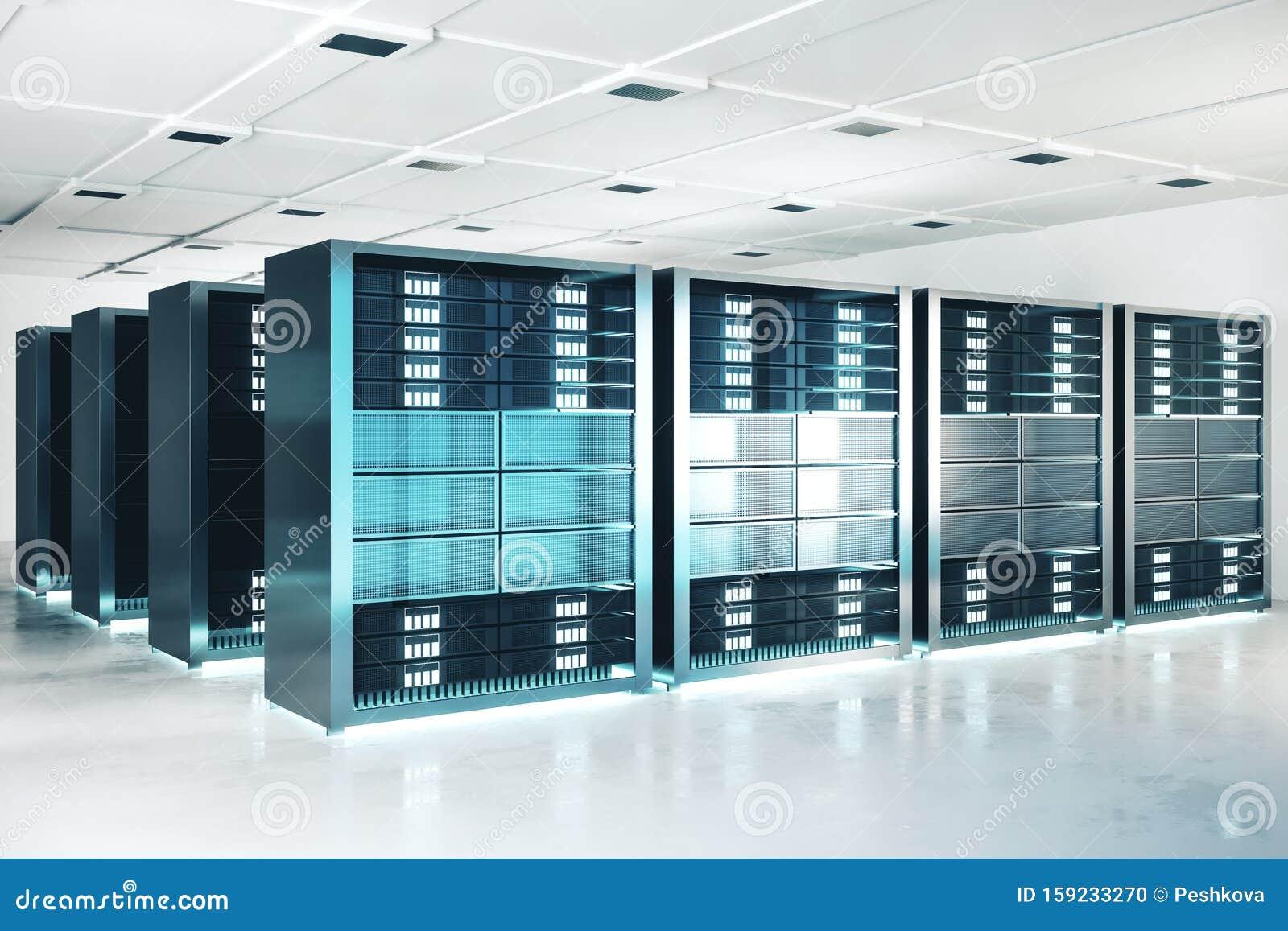 Modern Server Room Stock Illustration  Illustration Of