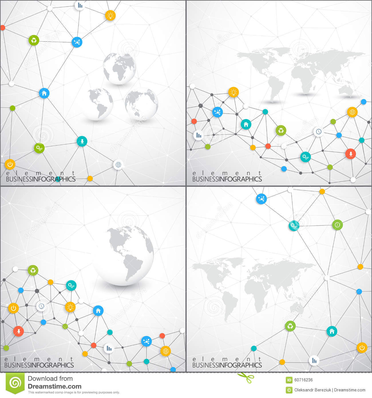 Modern Set Of Infographic Network Vector Template . Can Be Used ...