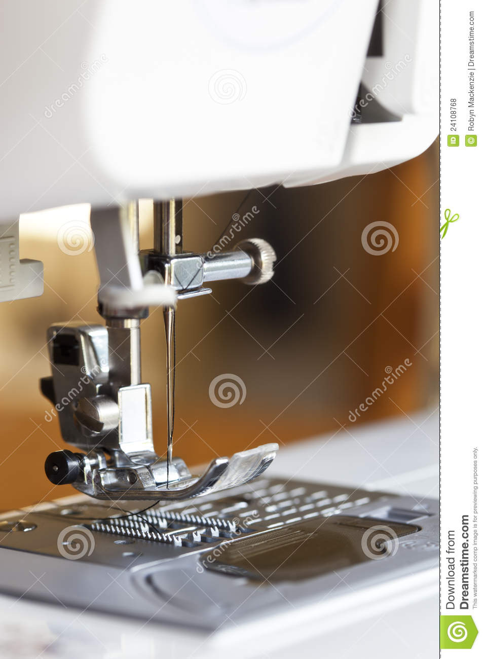 modern sewing machine royalty free stock photos image 24108768. Black Bedroom Furniture Sets. Home Design Ideas