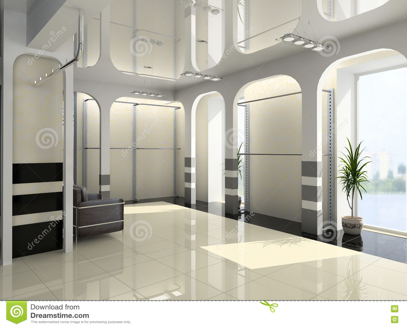 modern shop interior royalty free stock image image 1231906