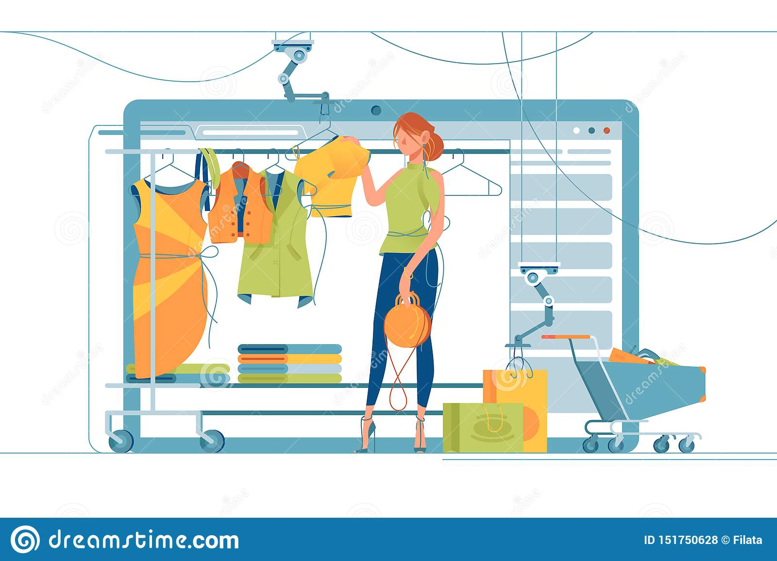 Modern shoppa ställning