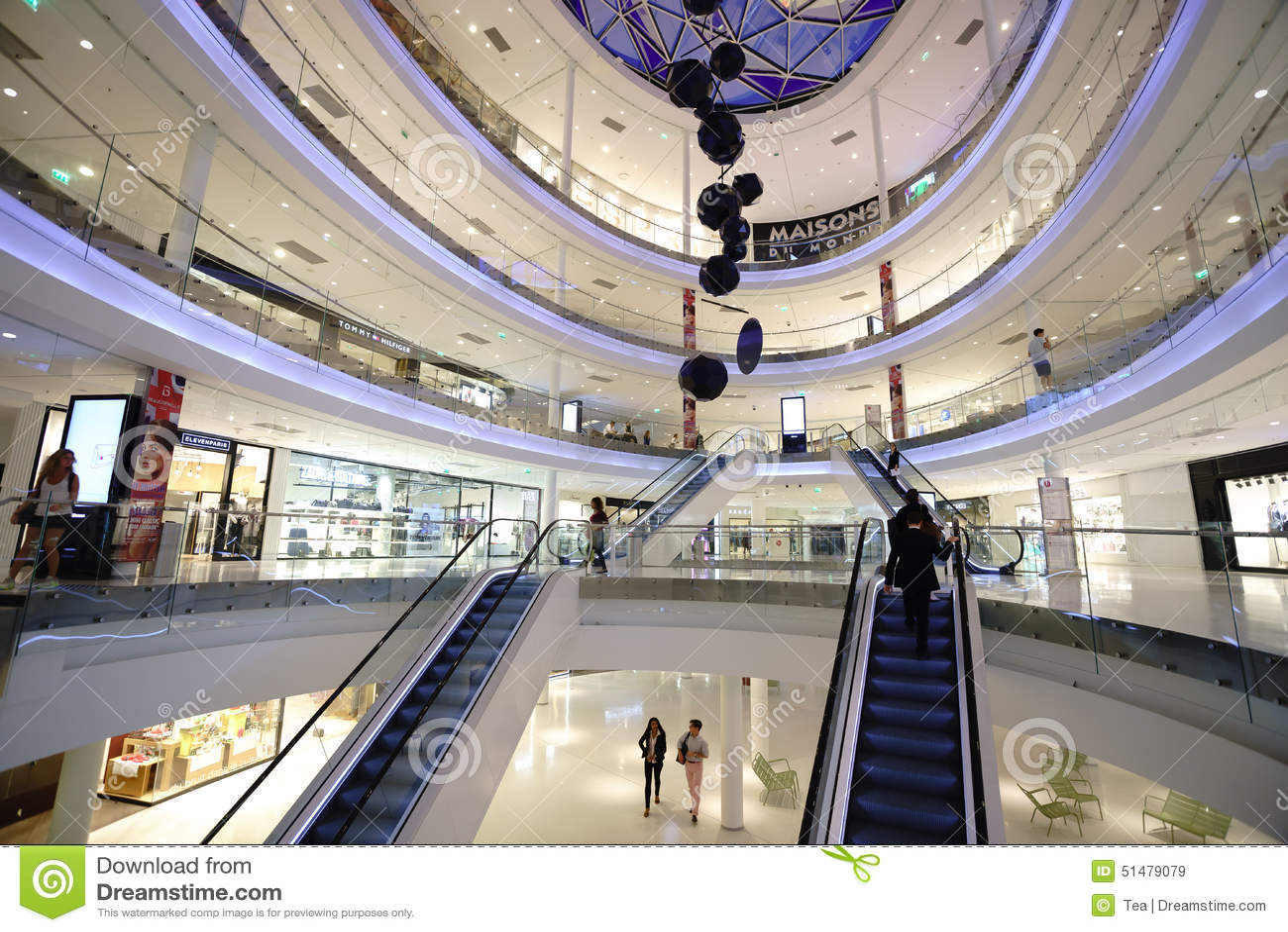 Modern Shopping Center In Paris Editorial Stock Image ...