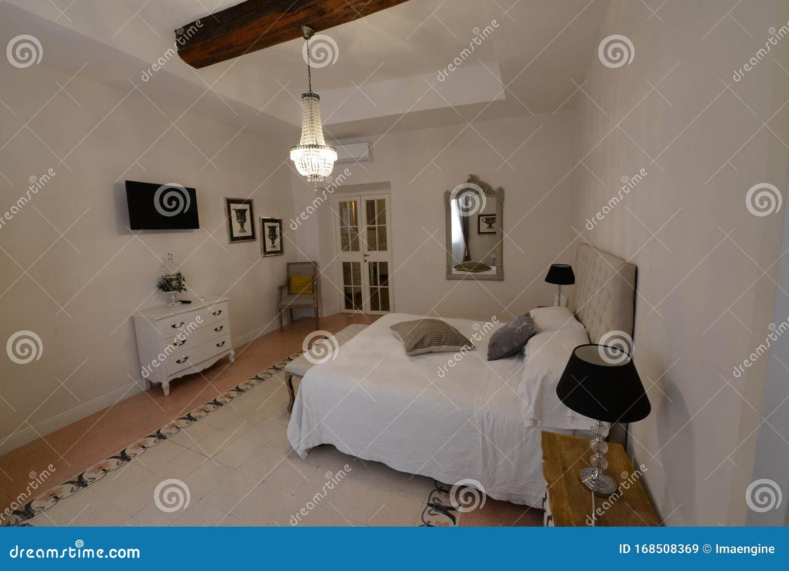 Modern Yet Minimalistic Bedroom Furniture Stock Image Image Of Minimalistic Bedroom 168508369