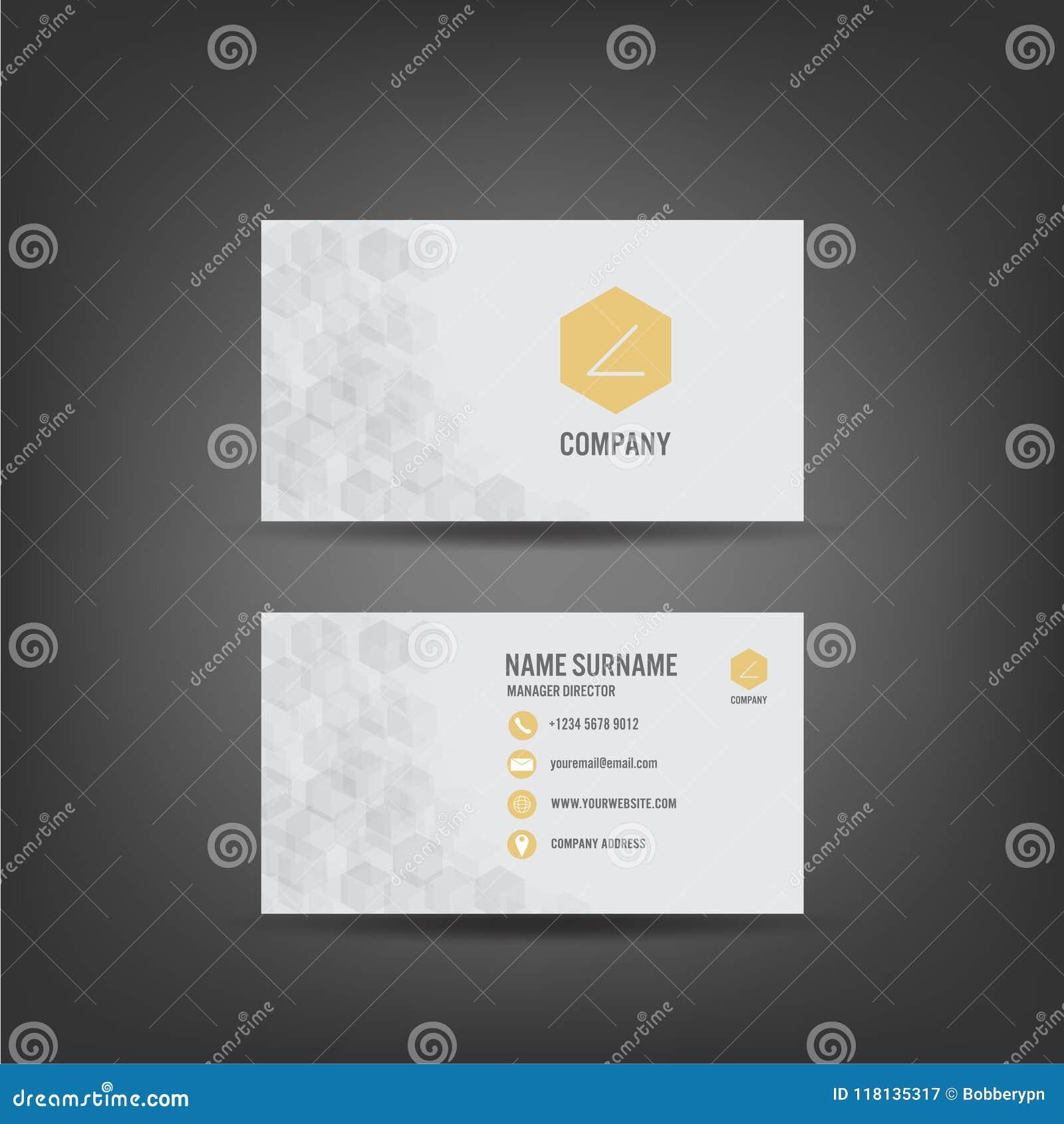 modern simple business card template flat user interface v modern simple business card template flat user interface 118135317