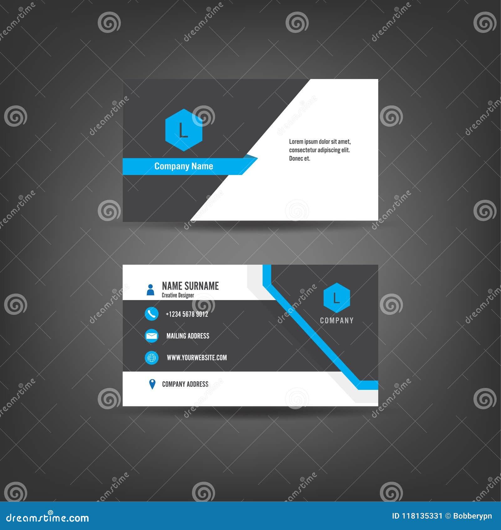 modern simple business card template flat user interface vector illustration modern simple business card template flat 118135331