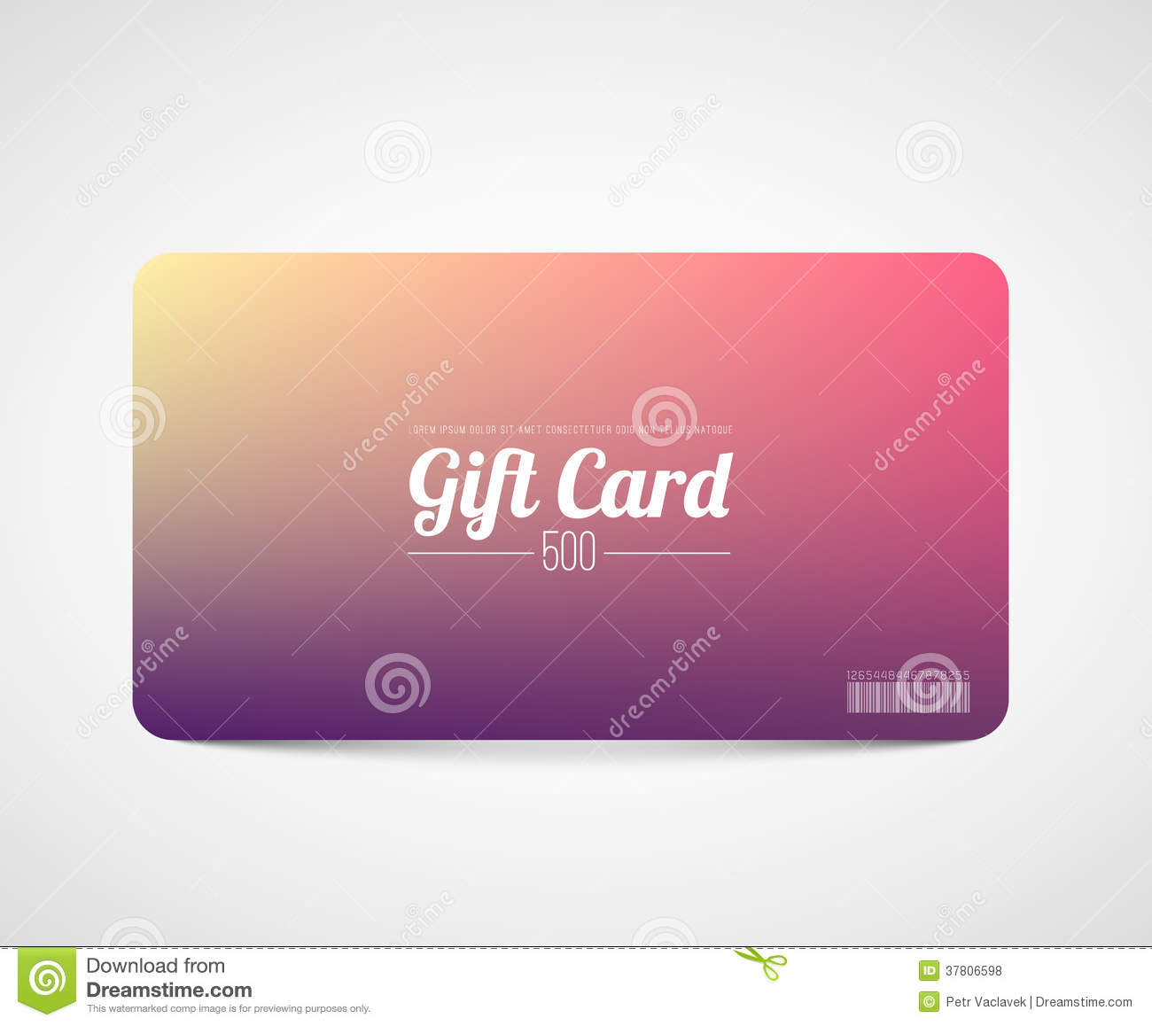 Modern Simple Gift Card Template Royalty Free Photos Image – Gift Card Template