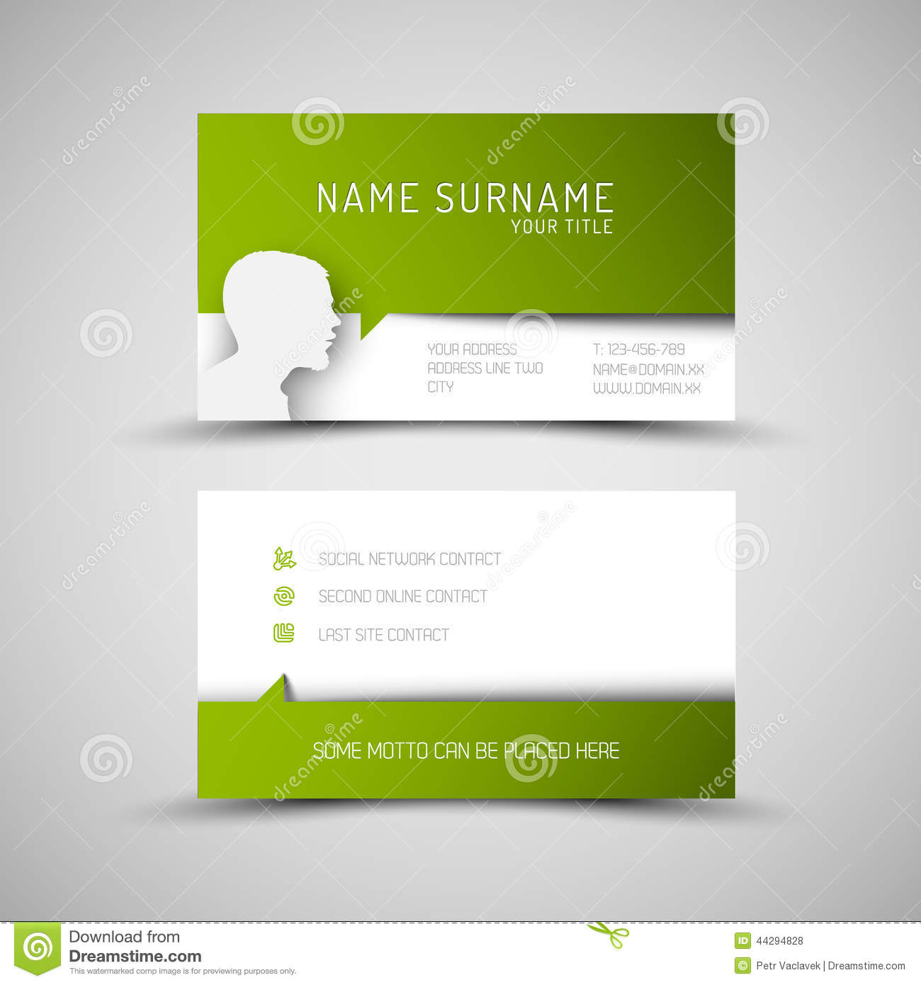 Modern simple green business card template with user profile stock modern simple green business card template with user profile friedricerecipe Images