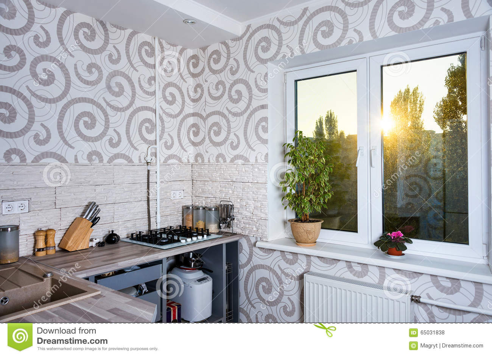 Modern Simple Kitchen Interior Design In Light Apartments