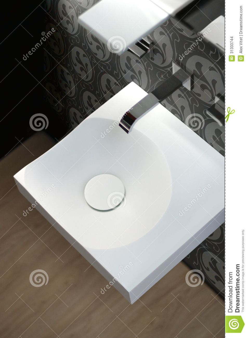 Modern sink stock photo image of sink free hung washbasin 31333744 - Designer sink image ...