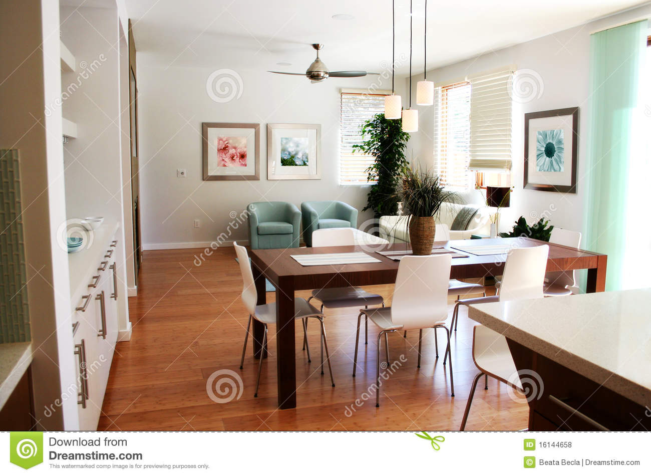 Delightful Royalty Free Stock Photo. Download Modern Sitting Room And Dining Area ... Part 26