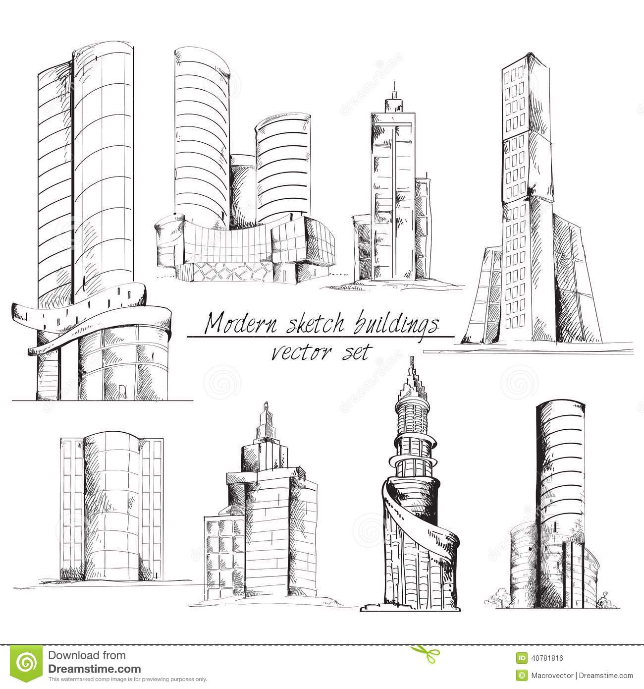 Modern Sketch Building Stock Vector. Image Of Architecture - 40781816