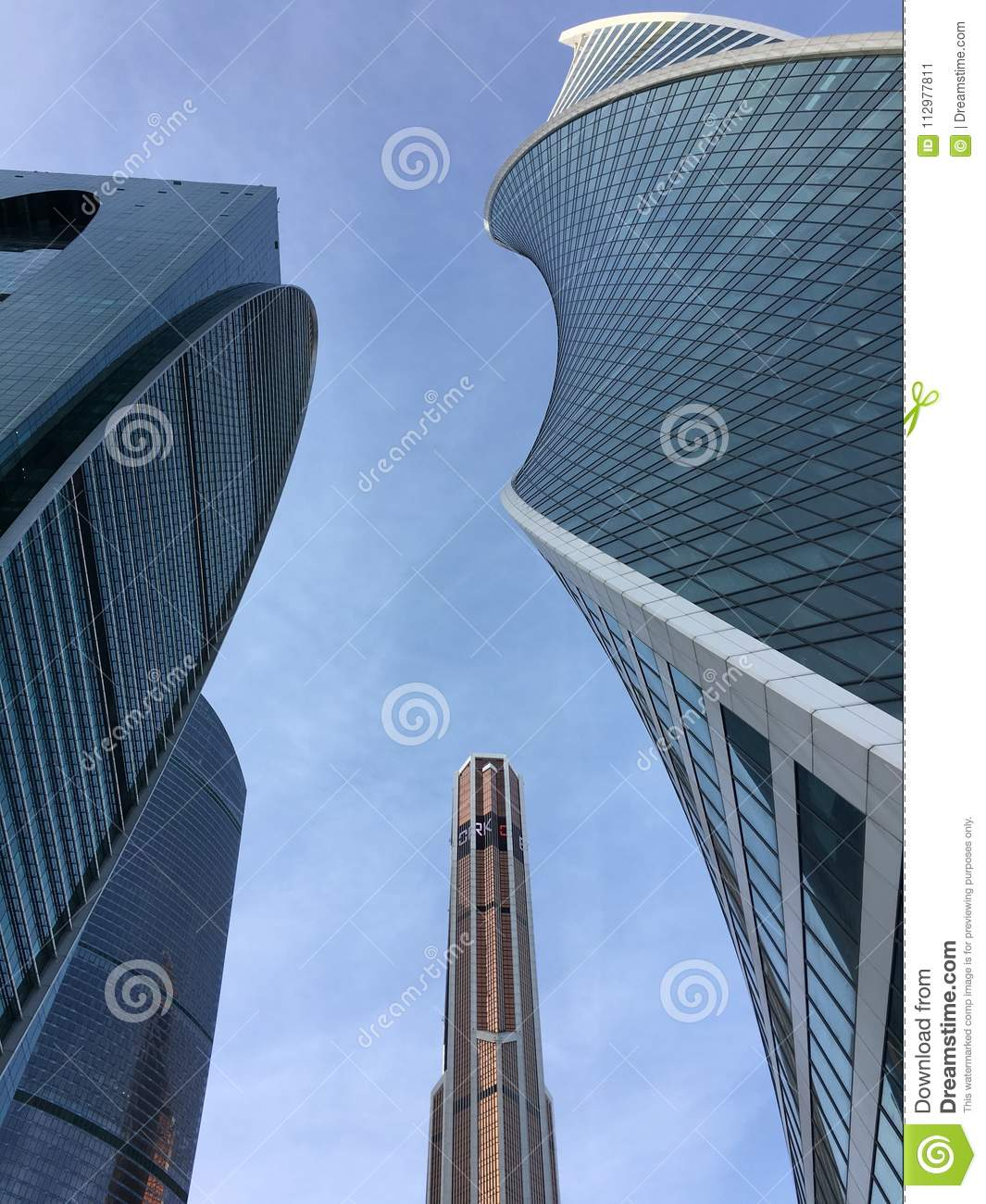 Modern skyscrapers in the capital of the city