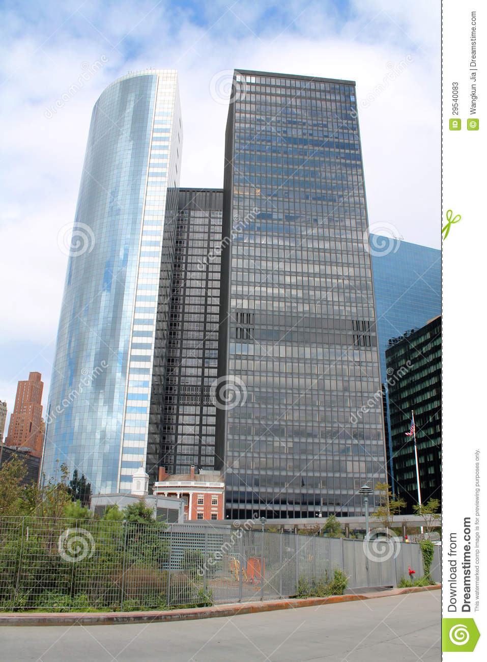 modern skyscrapers at financial district of manhattan new york city stock photos image 29540083