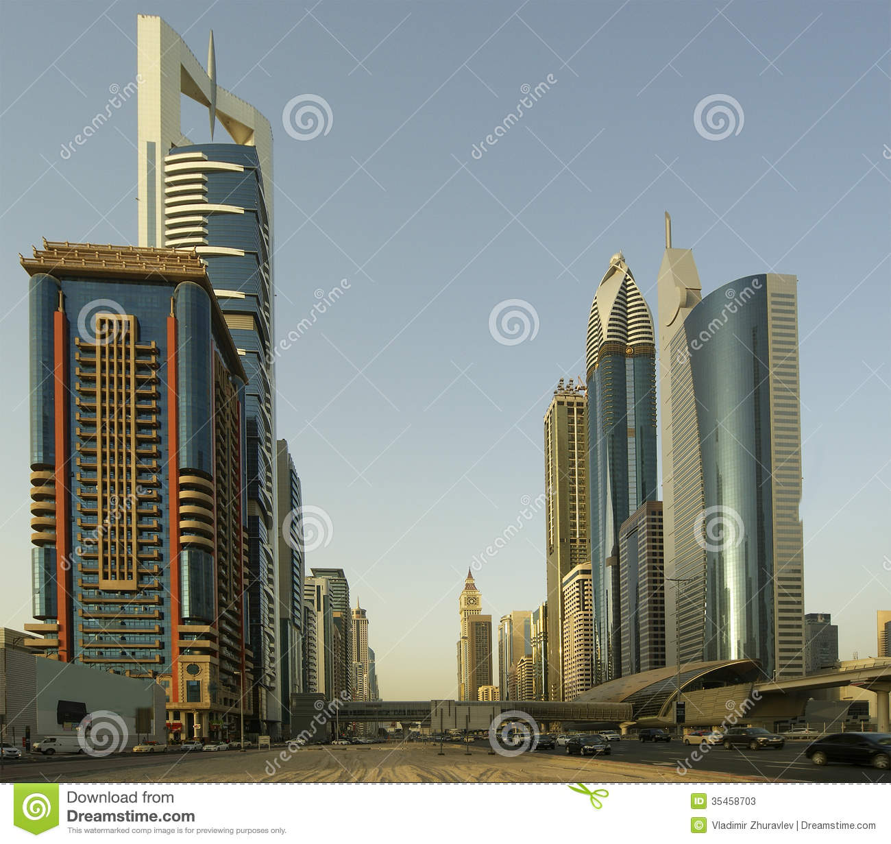 Modern Skyscrapers, Sheikh Zayed Road, Dubai Stock Image ...