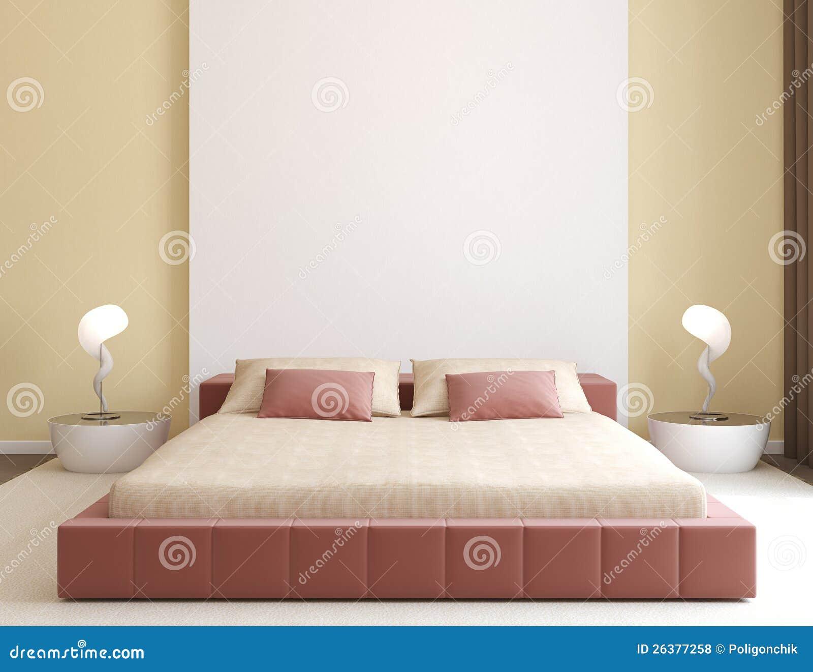 Modern slaapkamerbinnenland.