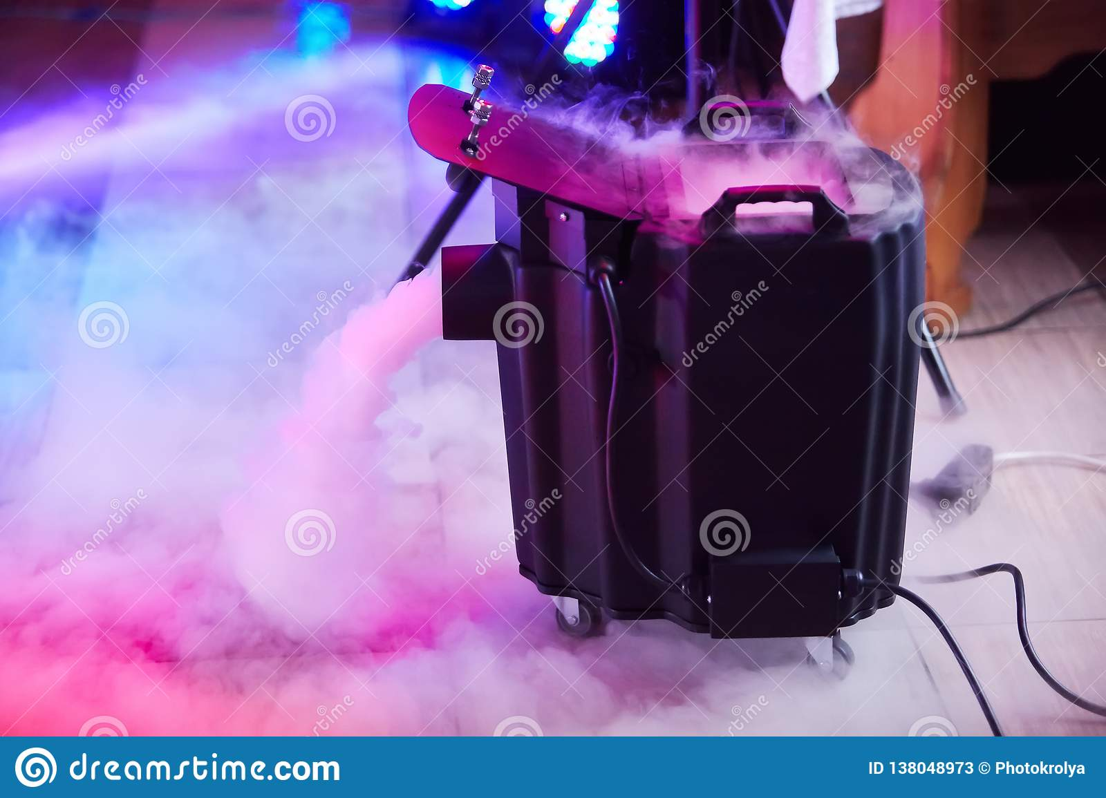 Modern smoke/fog dry ice device in action.